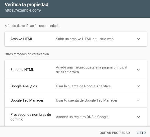 Verificar Propiedad Search Console